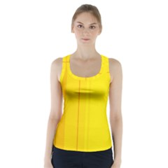 Yellow lines Racer Back Sports Top