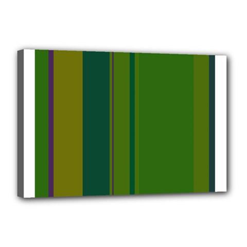 Green elegant lines Canvas 18  x 12