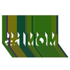 Green elegant lines #1 MOM 3D Greeting Cards (8x4)