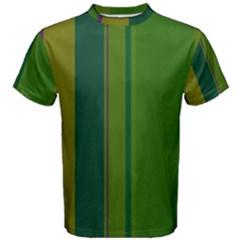 Green elegant lines Men s Cotton Tee