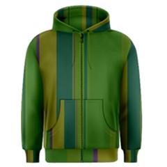 Green elegant lines Men s Zipper Hoodie