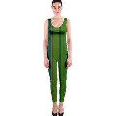 Green elegant lines OnePiece Catsuit
