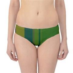 Green elegant lines Hipster Bikini Bottoms