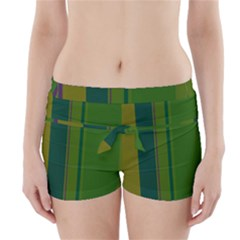 Green elegant lines Boyleg Bikini Wrap Bottoms