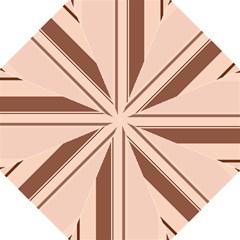 Elegant brown lines Golf Umbrellas