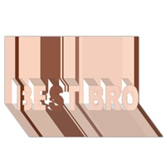 Elegant brown lines BEST BRO 3D Greeting Card (8x4)