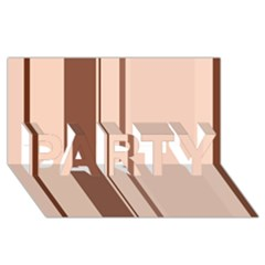 Elegant brown lines PARTY 3D Greeting Card (8x4)