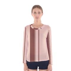 Elegant brown lines Women s Long Sleeve Tee