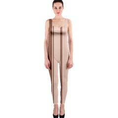 Elegant brown lines OnePiece Catsuit