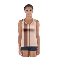Elegant brown lines Women s Sport Tank Top