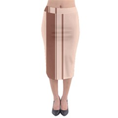 Elegant brown lines Midi Pencil Skirt
