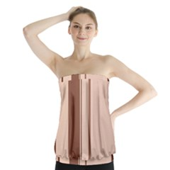 Elegant brown lines Strapless Top