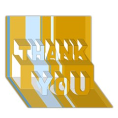 Yellow elegant lines THANK YOU 3D Greeting Card (7x5)
