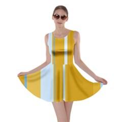 Yellow elegant lines Skater Dress