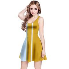 Yellow elegant lines Reversible Sleeveless Dress