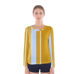 Yellow elegant lines Women s Long Sleeve Tee