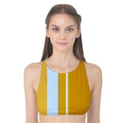 Yellow elegant lines Tank Bikini Top