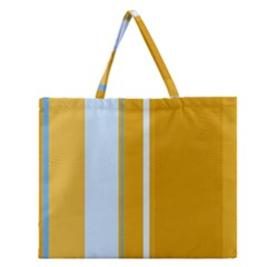 Yellow elegant lines Zipper Large Tote Bag