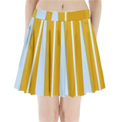Yellow Elegant Lines Pleated Mini Mesh Skirt