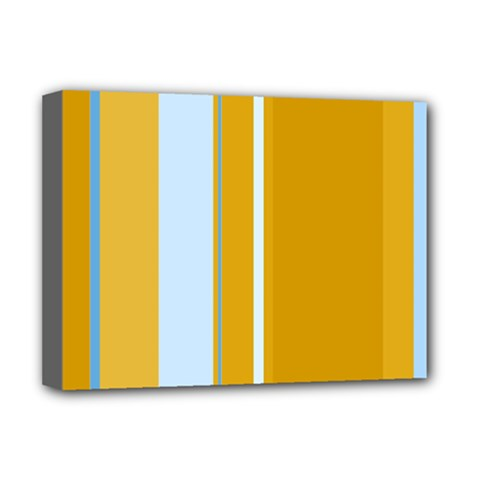 Yellow elegant lines Deluxe Canvas 16  x 12