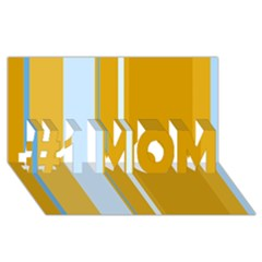 Yellow elegant lines #1 MOM 3D Greeting Cards (8x4)
