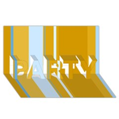 Yellow elegant lines PARTY 3D Greeting Card (8x4)