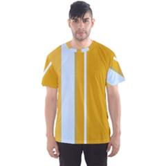 Yellow elegant lines Men s Sport Mesh Tee