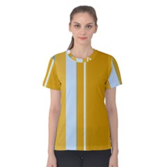Yellow elegant lines Women s Cotton Tee