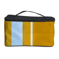 Yellow elegant lines Cosmetic Storage Case