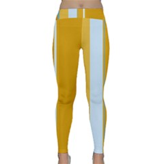 Yellow elegant lines Yoga Leggings