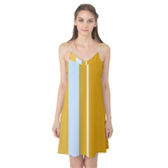 Yellow elegant lines Camis Nightgown