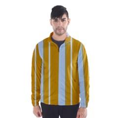 Yellow elegant lines Wind Breaker (Men)