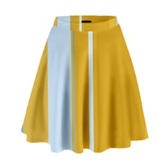 Yellow Elegant Lines High Waist Skirt