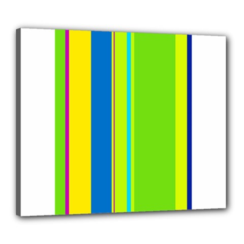 Colorful lines Canvas 24  x 20