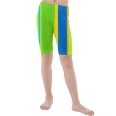 Colorful lines Kid s Mid Length Swim Shorts