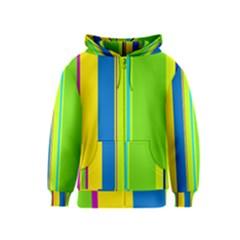 Colorful lines Kids  Zipper Hoodie