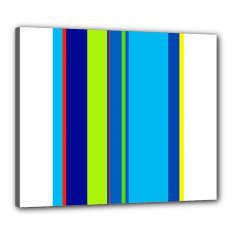 Blue and green lines Canvas 24  x 20