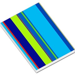 Blue and green lines Large Memo Pads