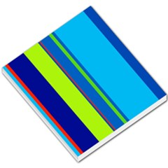 Blue and green lines Small Memo Pads