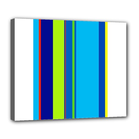 Blue and green lines Deluxe Canvas 24  x 20