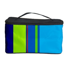 Blue and green lines Cosmetic Storage Case