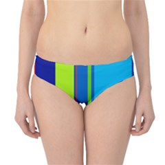 Blue and green lines Hipster Bikini Bottoms