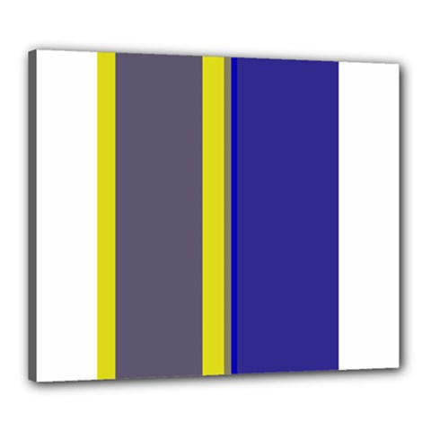 Blue and yellow lines Canvas 24  x 20