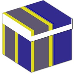 Blue and yellow lines Storage Stool 12