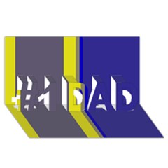Blue and yellow lines #1 DAD 3D Greeting Card (8x4)