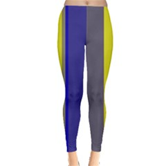 Blue and yellow lines Leggings