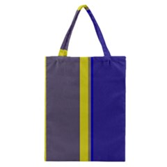 Blue and yellow lines Classic Tote Bag