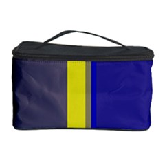 Blue and yellow lines Cosmetic Storage Case