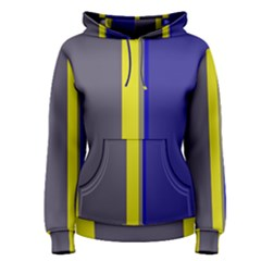 Blue and yellow lines Women s Pullover Hoodie