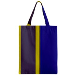 Blue and yellow lines Zipper Classic Tote Bag